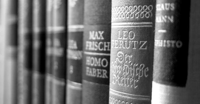 Literatur Buchruecken Max Frisch Leo Perutz Klaus Mann