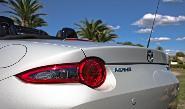 Mazda MX-5 ND des Modelljahres 2015, Heckansicht im Detail